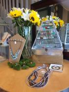 Molly & Bella jewelry on display at The Beauty Room. Photo courtesy of Cleo Anderson