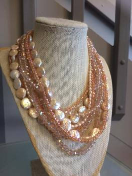 Necklace on display at The Beauty Room. Photo courtesy of Cleo Anderson
